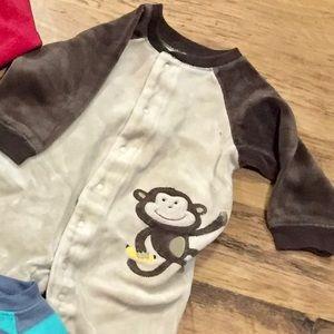 Carter's Monkey Valour Sleep & Play Footless